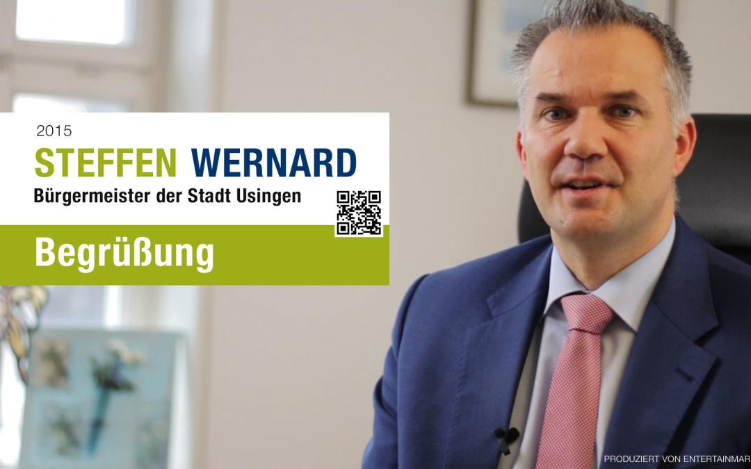 Usingen Wählt Steffen Wernard Bürgermeister Steffen Wernard Setzt