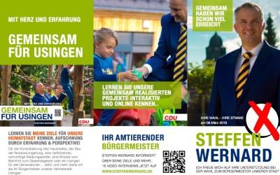 Usingen wählt Steffen Wernard – Bürgermeister Wahlflyer 2016