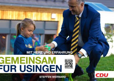 Usingen wählt Steffen Wernard. Wahlplakate_Motive-8539 - Bürgermeister Steffen Wernard - Stadt Usingen - Design by DER PR BERATER & Entertain MARKET