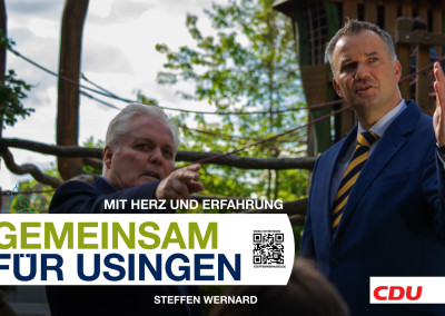 Wahlplakate_Motive-8579 - Bürgermeister Steffen Wernard - Stadt Usingen - Design by Entertain MARKET
