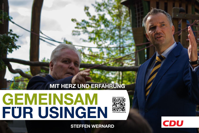 Usingen wählt Steffen Wernard. Wahlplakate_Motive-8579 - Bürgermeister Steffen Wernard - Stadt Usingen - Design by DER PR BERATER & Entertain MARKET