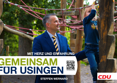 Wahlplakate_Motive-8592 - Bürgermeister Steffen Wernard - Stadt Usingen - Design by Entertain MARKET