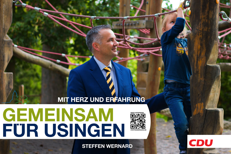 Usingen wählt Steffen Wernard. Wahlplakate_Motive-8592 - Bürgermeister Steffen Wernard - Stadt Usingen - Design by DER PR BERATER & Entertain MARKET