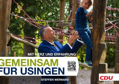 Wahlplakate_Motive-8594 - Bürgermeister Steffen Wernard - Stadt Usingen - Design by Entertain MARKET