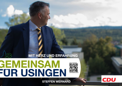 Wahlplakate_Motive-8609 - Bürgermeister Steffen Wernard - Stadt Usingen - Design by Entertain MARKET