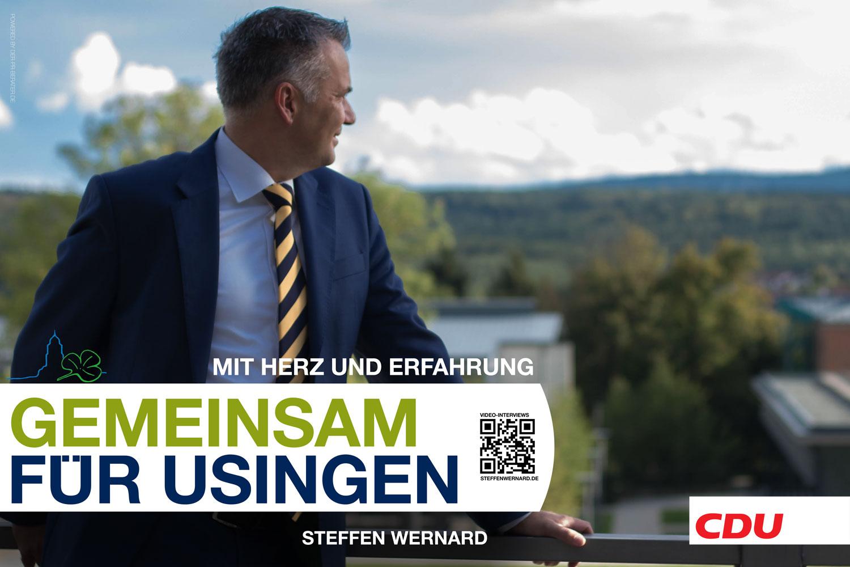 Usingen wählt Steffen Wernard. Wahlplakate_Motive-8609 - Bürgermeister Steffen Wernard - Stadt Usingen - Design by DER PR BERATER & Entertain MARKET