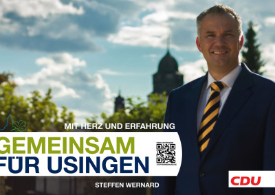 Wahlplakate_Motive-8614 - Bürgermeister Steffen Wernard - Stadt Usingen - Design by Entertain MARKET