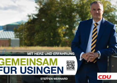 Wahlplakate_Motive-8626 - Bürgermeister Steffen Wernard - Stadt Usingen - Design by Entertain MARKET