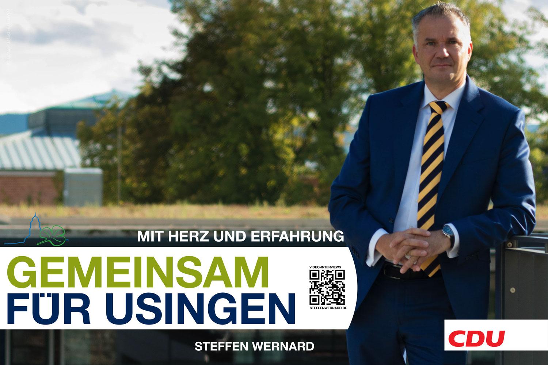 Usingen wählt Steffen Wernard. Wahlplakate_Motive-8626 - Bürgermeister Steffen Wernard - Stadt Usingen - Design by DER PR BERATER & Entertain MARKET