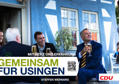 Wahlplakate_Motive-8683 - Bürgermeister Steffen Wernard - Stadt Usingen - Design by Entertain MARKET