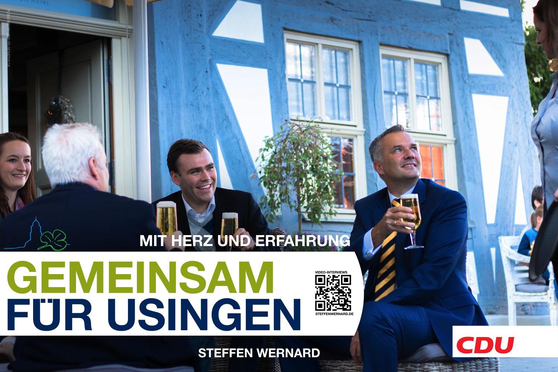 Usingen wählt Steffen Wernard. Wahlplakate_Motive-8683 - Bürgermeister Steffen Wernard - Stadt Usingen - Design by DER PR BERATER & Entertain MARKET