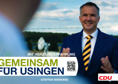 Wahlplakate-Motive-8716 - Bürgermeister Steffen Wernard - Stadt Usingen - Design by Entertain MARKET