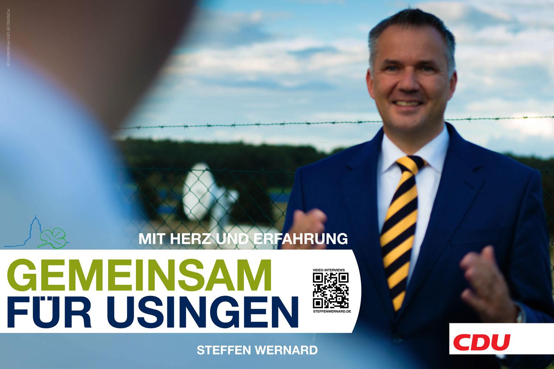 Usingen wählt Steffen Wernard. Wahlplakate-Motive-8716 - Bürgermeister Steffen Wernard - Stadt Usingen - Design by DER PR BERATER & Entertain MARKET